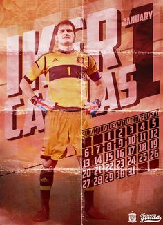 Calendario 2013 con futbolistas europeos