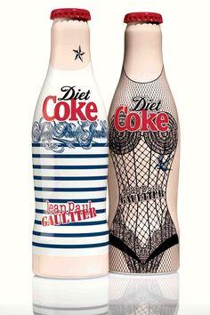Jean Paul Gaultier Tasarımı Diet Coke Şişeleri