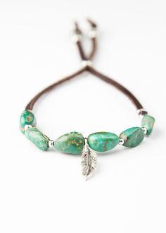 Genuine Turquoise Bracelet by SoulMakes Jewelry