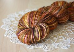 DK weight hand dyed deliciousness in the perfect Autumn colors, by Phydeaux Designs.  :)