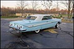 1961 Chevrolet Impala SS Convertible -- just about like ours, even the color -- robin egg blue