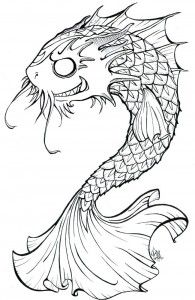Black and white koi fish tattoo design tattoos for Black koi fish meaning
