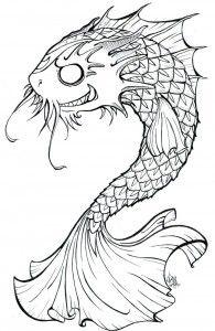 Black and white koi fish tattoo design tattoos for Black koi fish meaning