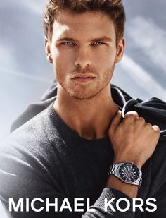 """fash-fever: """"Benjamin Eidem Stars in Michael Kors Watches Campaign Perfect Timing—Replacing Simon Nessman as the face of Michael Kors, Swedish model Benjamin Eidem is the designer's male muse for the..."""