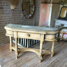 1/12 scale dollhouse sofa table handpainted by Twistedcopperforest