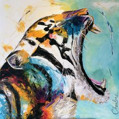 Tiger painting / Portfolio | by Charlene Art Schilderijen