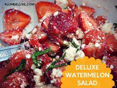 Deluxe Watermelon Salad Recipe from @plumdeluxe