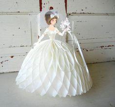 Vintage Honeycomb Bride Centerpiece Decoration by PeppermintBark