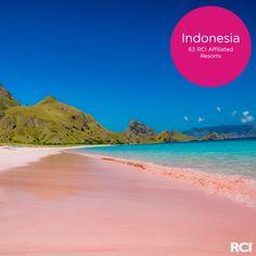 No, the sand isn't sunburned— Komodo Island's Pink Beach has a natural glow.