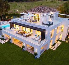 *Casa Mimosa* - Paradise villa in Marbella - Marbella Home Design, Modern House Design, Design Homes, Villa Design, Amazing Architecture, Architecture Design, Architecture Board, Casa Mimosa, Marbella Villas