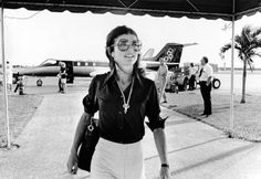 """theimpossiblecool:  """" Jackie O, West Palm Beach, 1975.  """""""