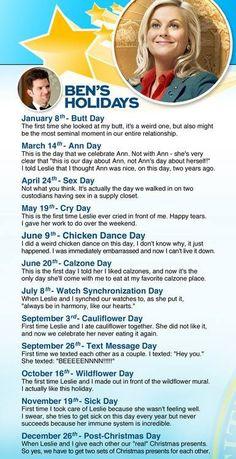 Hahaha I love Leslie's holidays!!