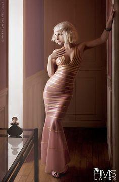 Pretty pink dress. Latex? #latex