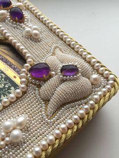 My latest pearl embroidery (detail) - Larissa Borodich