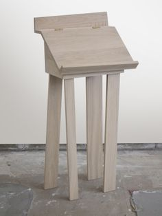 furniture collection | TOM FRENCKEN | reading desk made of French oak with brass hinges.