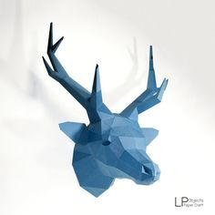 You can make your own Deer head for wall decoration! DIY paper craft projects to create a polygonal shaped sculpture. It is a paper 3D paper sculpture that can be put together by folding, gluing and assembling. It can be placed like art or decoration. It looks really great and modern on