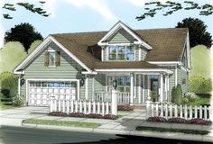 House Plan 66487 | Traditional Plan with 1853 Sq. Ft., 3 Bedrooms, 3 Bathrooms, 2 Car Garage