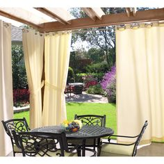 Shop for Gazebo Grommet Top Indoor / Outdoor Curtain Panel. Get free delivery On EVERYTHING* Overstock - Your Online Garden & Patio Store! Get in rewards with Club O! Outdoor Curtain Rods, Outdoor Curtains For Patio, Gazebo Curtains, Indoor Outdoor, Outdoor Gazebos, Outdoor Decor, Outdoor Privacy, Backyard Privacy, Outdoor Venues