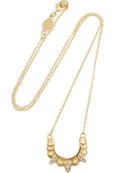 Pamela Love Mini Tribal Spike gold-plated topaz necklace   NET-A-PORTER