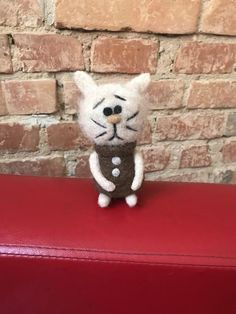 Needle Felted Soft Sculpture Gifts by Needle Felted Cat, Needle Felted Animals, Felt Animals, Felt Dogs, Felt Cat, Cat Lover Gifts, Cat Lovers, Felt Gifts, Baby Squirrel