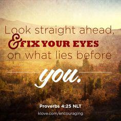 Proverbs 4:25 NLT