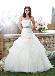 Princesse Grandes tailles Sans manches Robes de mariée pas cher