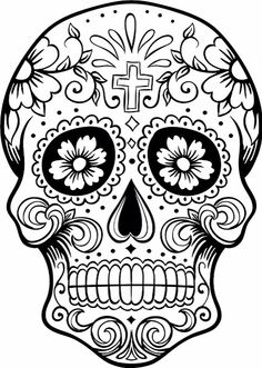 Dia De Los Muertos - colouring pages
