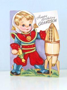 Vintage Astronaut Space Boy Gibson Mid Century by vintagebeachkids