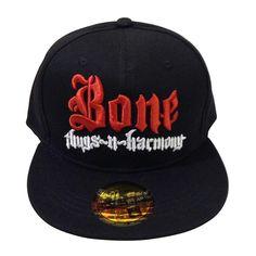 Red   White Bone Thugs n Harmony Black Snapback 898f401b8e2