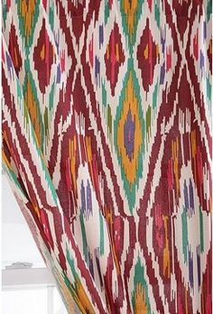 Diamond Ikat Curtain - mediterranean - curtains - Urban Outfitters