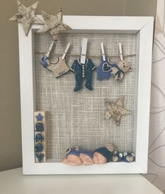Newborn,babyboy,fimo,frame - Hobbies paining body for kids and adult Shadow Box Baby, Diy Shadow Box, Sleepover Birthday Parties, Baby Shower Parties, Baby Shower Gifts, Handmade Crafts, Diy And Crafts, Diy Projects For Adults, Baby Frame
