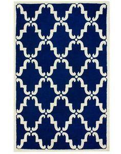 blue trellis rug