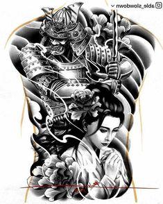 Japanese Warrior Tattoo, Japanese Back Tattoo, Japanese Tattoos For Men, Japanese Tattoo Designs, Japanese Sleeve Tattoos, Samurai Tattoo Sleeve, Samurai Warrior Tattoo, Tiger Tattoo Sleeve, Warrior Tattoos
