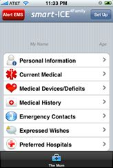 """smart-ICE 4 Family, The app is designed to store all of your """"in case of emergency"""" information on your iPhone. Now comes smart-ICE4family. The concept is the same but this app lets you store information for up to five family members."""