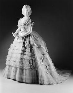 Evening dress from the Met Museum  circa 1860