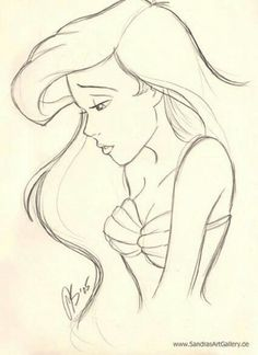 Arielle als Skizze und zum zeichnen . Mein Favorit bei den den Disney Filmen ist… Arielle as a sketch and a drawing. My favorite in the Disney films is Arielle's all three parts. Disney Pencil Drawings, Disney Princess Drawings, Disney Sketches, Simple Disney Drawings, Disney Princesses, Princess Disney, Art Drawings Sketches Simple, Easy Pictures To Draw, Simple Pictures