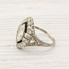 LOVE....Antique 95 Carat Marquise Diamond Engagement by ErstwhileJewelry on Etsy, $8500.00