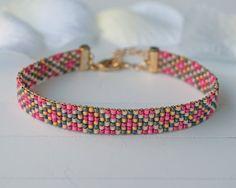 Bead loom bracelet W005 by FreubelleBijoux on Etsy