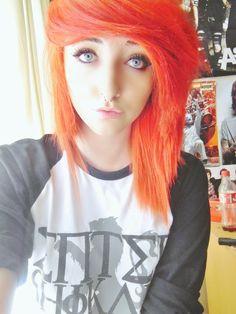 .Orange.emo.scene.hair. on Pinterest | Scene Hair, Scene ...