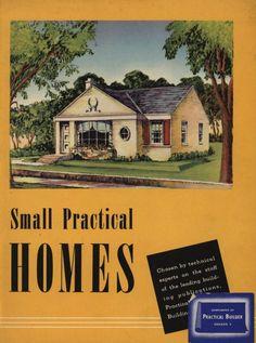 Small Practical Homes, Architecture Blueprints, Vintage Architecture, House Blueprints, Small House Floor Plans, New House Plans, Classic Home Decor, Classic House, Vintage House Plans, Vintage Homes
