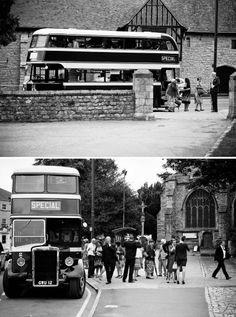 Wedding Transport Old Fashioned Bus Wedding Transportation, Dream Wedding, Wedding Day, Wedding Company, Festival Wedding, Journey, Entertainment, Weddings, Bride