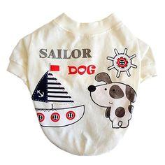 Camiseta para Cachorro Sailor Marfim Dear Dog - MeuAmigoPet.com.br #petshop #cachorro #cão #meuamigopet