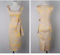 Summer Women Sleeveless V-neck Maxi Office Bandage Bodycon Sexy Pencil Vintage Yellow Dress Vestidos De Festa Party Dress