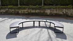 Wishbone Skyline Curved Bench 2 Sections Curved Bench, Pocket Park, Garden Bridge, Park Benches, Skyline, Outdoor Structures, Image, Ideas, Thoughts