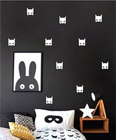 Batman decals by Studio Picco   Stickers for boys, White wall decal, Baby nursery decor - 24 pcs #gift #newborn #baby #swaddle #handmade