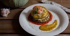 un riquísimo milhojas de calabacín y langostinos, perfecto para un día de fiesta o para una cena romántica.