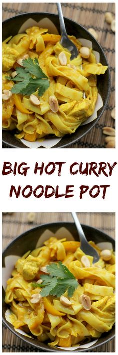 This big hot curry noodle pot will warm you up from the inside out and cure all your winter woes!