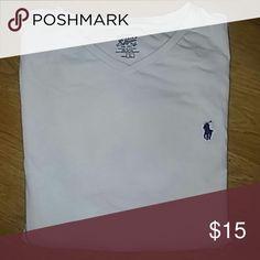 Make offer! Men's Ralph Lauren White V Neck Basic and hip. EUC. Ralph Lauren Shirts Tees - Short Sleeve