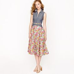 This dress is so cute. Creatures of the Wind for J.Crew sleeveless zip dress