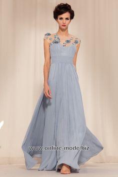 Abendrobe Abendkleid in Silber Grau von www.online-mode.biz